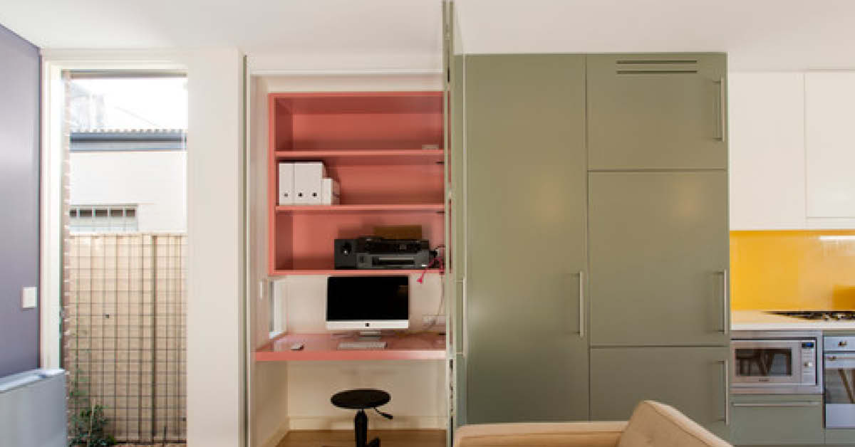 Pastel home office or study