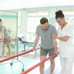 Physio Assistant Walking with Patient - Foundation Education